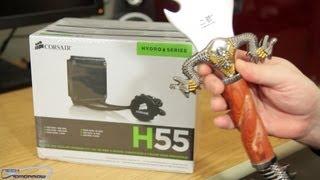 corsair h55 hydro series liquid cpu cooler unboxing