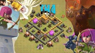 El mejor diseño de aldea ayuntamiento 4 | Clash of Clans