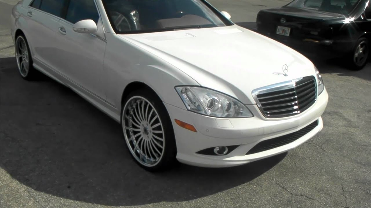2009 mercedes s550 review 22 inch white for White s550 mercedes benz for sale