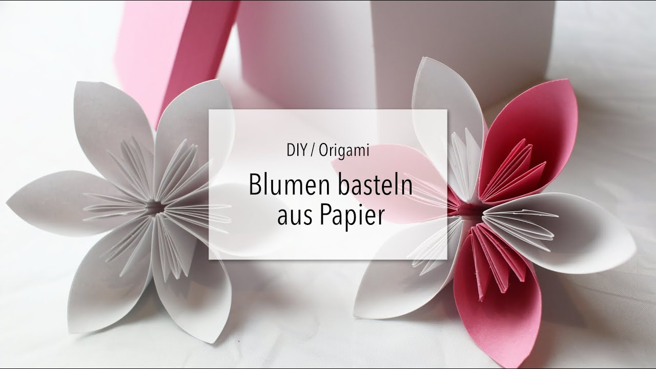 diy origami papierblumen basteln zeit f r frei youtube. Black Bedroom Furniture Sets. Home Design Ideas