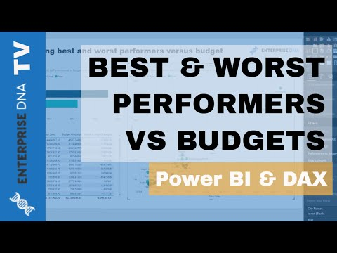 Separate Your Best & Worst Performers vs Budgets - Power BI & DAX
