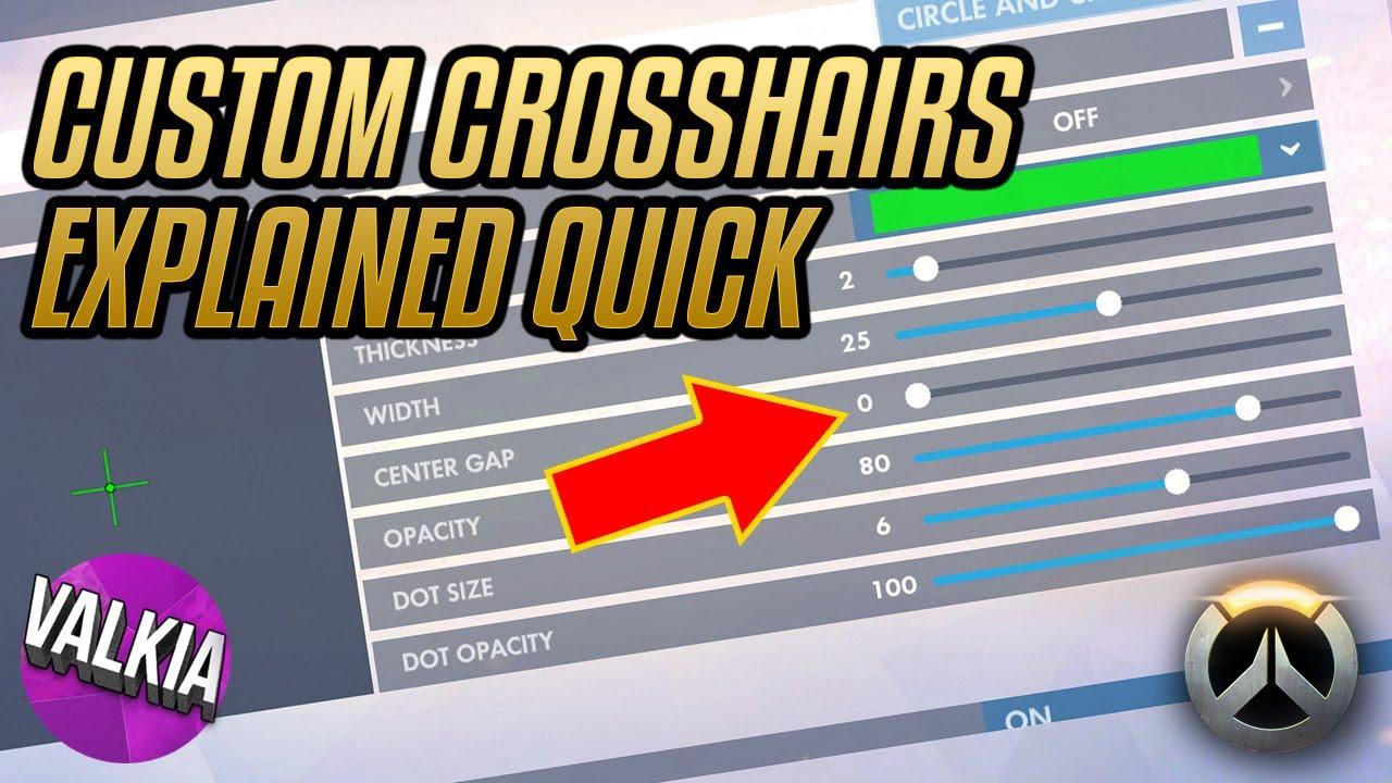 Overwatch Custom Crosshair [recticle] Quick Tutorial || Valkia