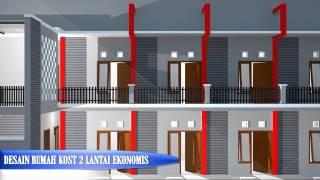 Desain Rumah Kost 2lantai 2016 Ekonomis Tetap Terkesan Modern Youtube