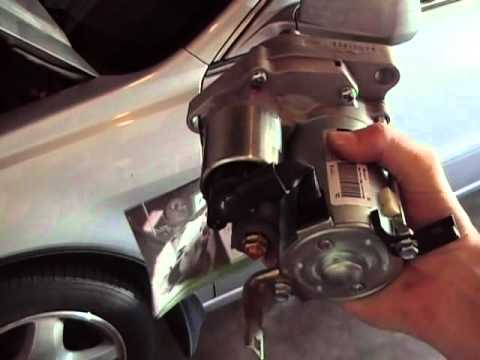 How to remove and replace a starter motor for a 2003 Acura TL