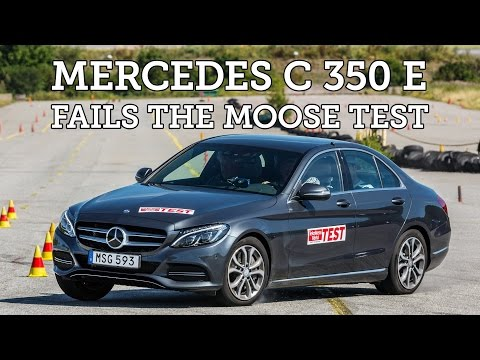 Moose test Mercedes C 350 e Hybrid 2015 Poor result