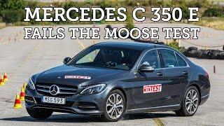 Moose test Mercedes C 350 e (Hybrid) 2015 [Poor result]