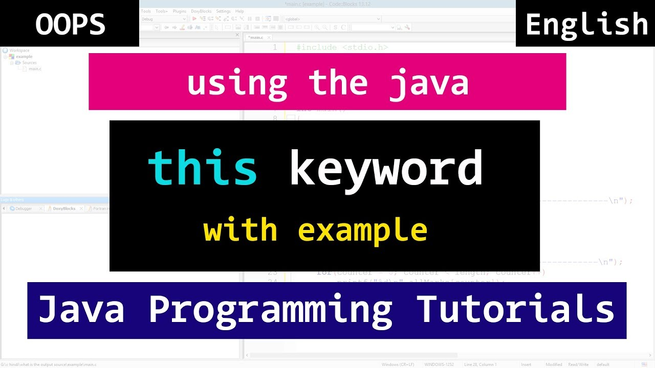 Java this keyword with example object oriented video tutorial java this keyword with example object oriented video tutorial for beginners baditri Gallery