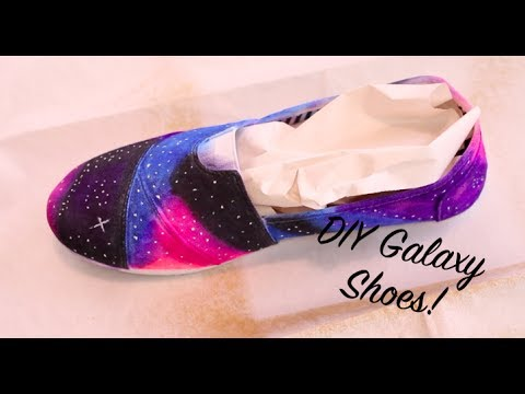 How To DIY Sharpie Galaxy Shoes