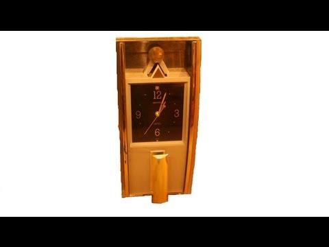 4MJ753-R02 RHYTHM Quartz Contemporary Pendulum Musical Wall Clock