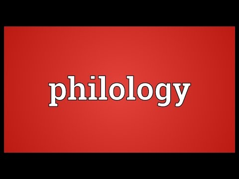 Philology Meaning