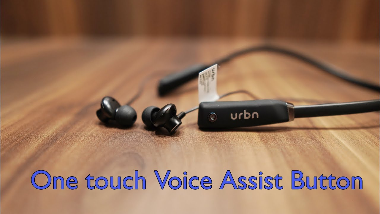 7402d57b07e URBN Thud 500 Voice Assistant Neckband in-Ear Sports Bluetooth Wireless  Earphone plus Giveaway by Gogi Tech