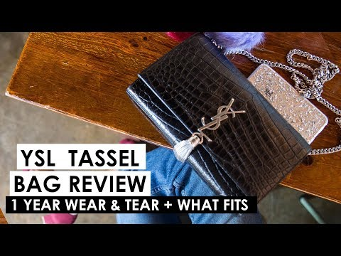YSL TASSEL CHAIN BAG REVIEW | One year update wear & tear and what fits!