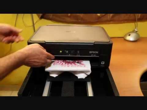 Stampante Per Magliette Epson Xp102 Modificata Per Stampare Su T Shirt