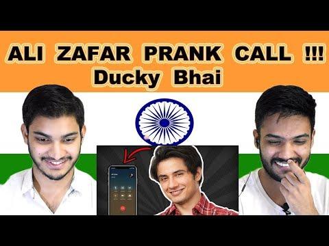 Indian reaction on ALI ZAFAR PRANK CALL | Ducky Bhai | Swaggy d