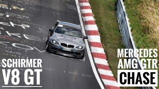 SCHIRMER BMW E92 M3 chasing Mercedes AMG GTR | Nordschleife | 7:23 BTG | Alex Hardt