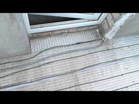 видео: тёплый пол на балконе