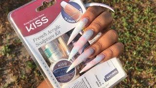 Doing Super LONG Nails with Walgreens Nail Kit | 9$ Nails? at home