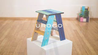 UROCO Recipe NO.1 UROCO Wood Mini Step Ladder PV