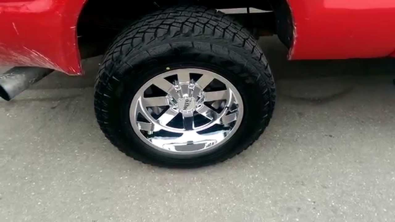 Moto Metal Wheels >> 877-544-8473 20x12 Moto Metal 962 Chrome Rims offroad wheels negative offset lifted truck - YouTube