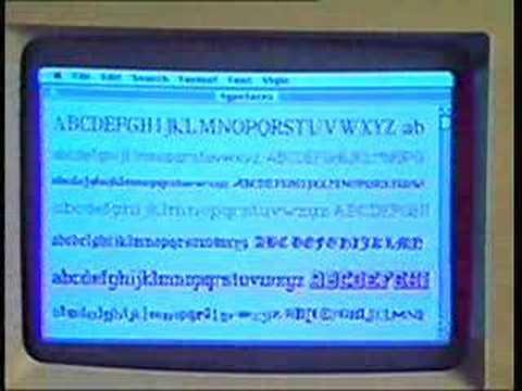 Apple Macintosh presentation 1984