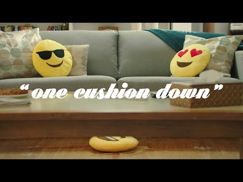 3 Cushions on a Couch – One Cushion Down