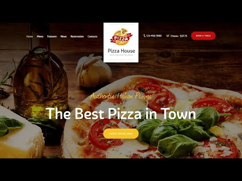 Best Pizza WordPress Website Theme Review By Pizza House 2020
