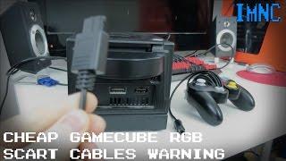 Cheap PAL GameCube RGB SCART Cables - Avoid! IMNC