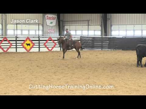NCHA Hall of Fame Rider Jason Clark working a 3-year-old cutting horse.