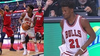 Bulls Bench Jimmy Butler Dwyane Wade for Comments! They Shoot 7 of 30 Heat vs Bulls