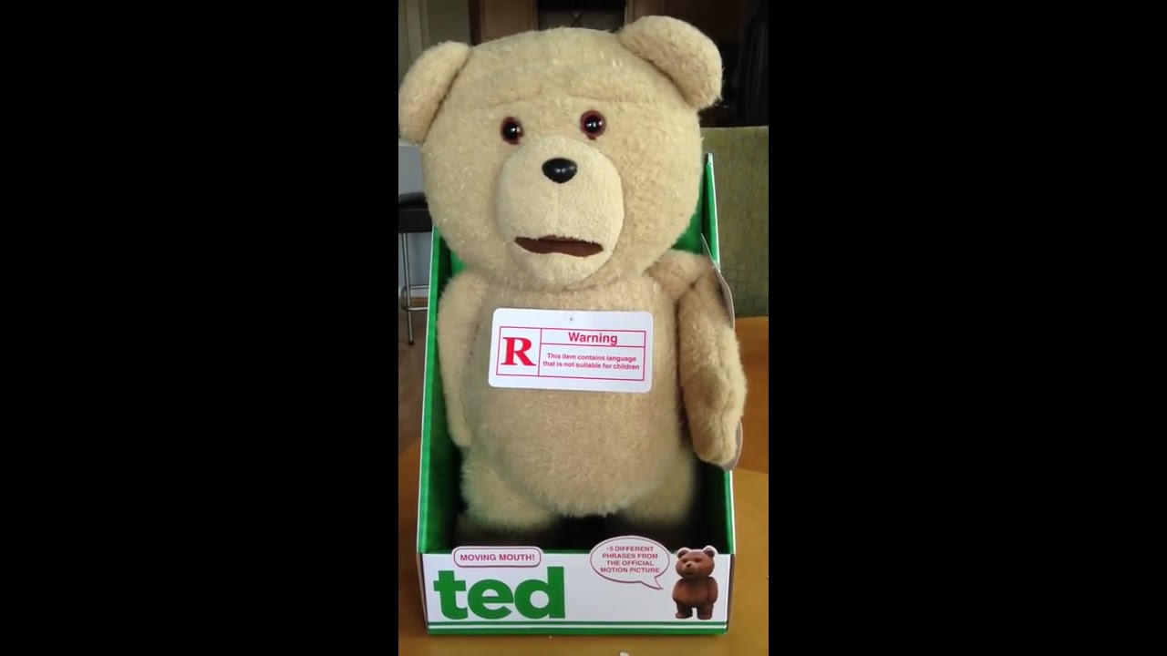 "Ted Youtube: Talking Ted 16"" Plush Doll With Moving Mouth By"