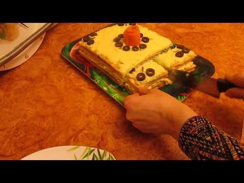 Пирог  рыбный слоёный