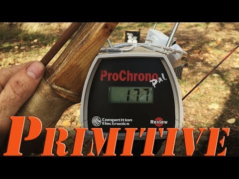 How fast is a Primitive Bow? Sinew backed osage recurve