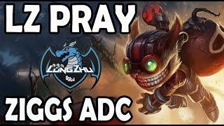 Pray picks ZIGGS ADC  (New Meta) + SKT T1 Wolf ZYRA Support