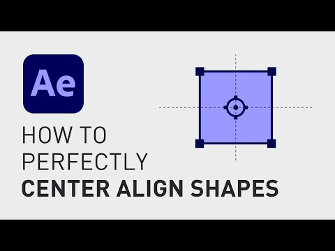 How to center align a shape layer