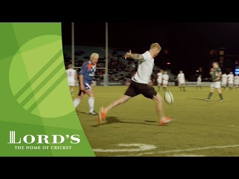 Cricket meets Rugby - Stokes & Plunkett take on rugby legends in Ireland