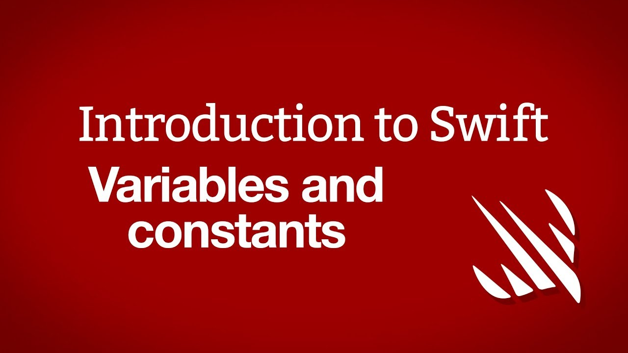 Introduction to Swift: Variables and constants