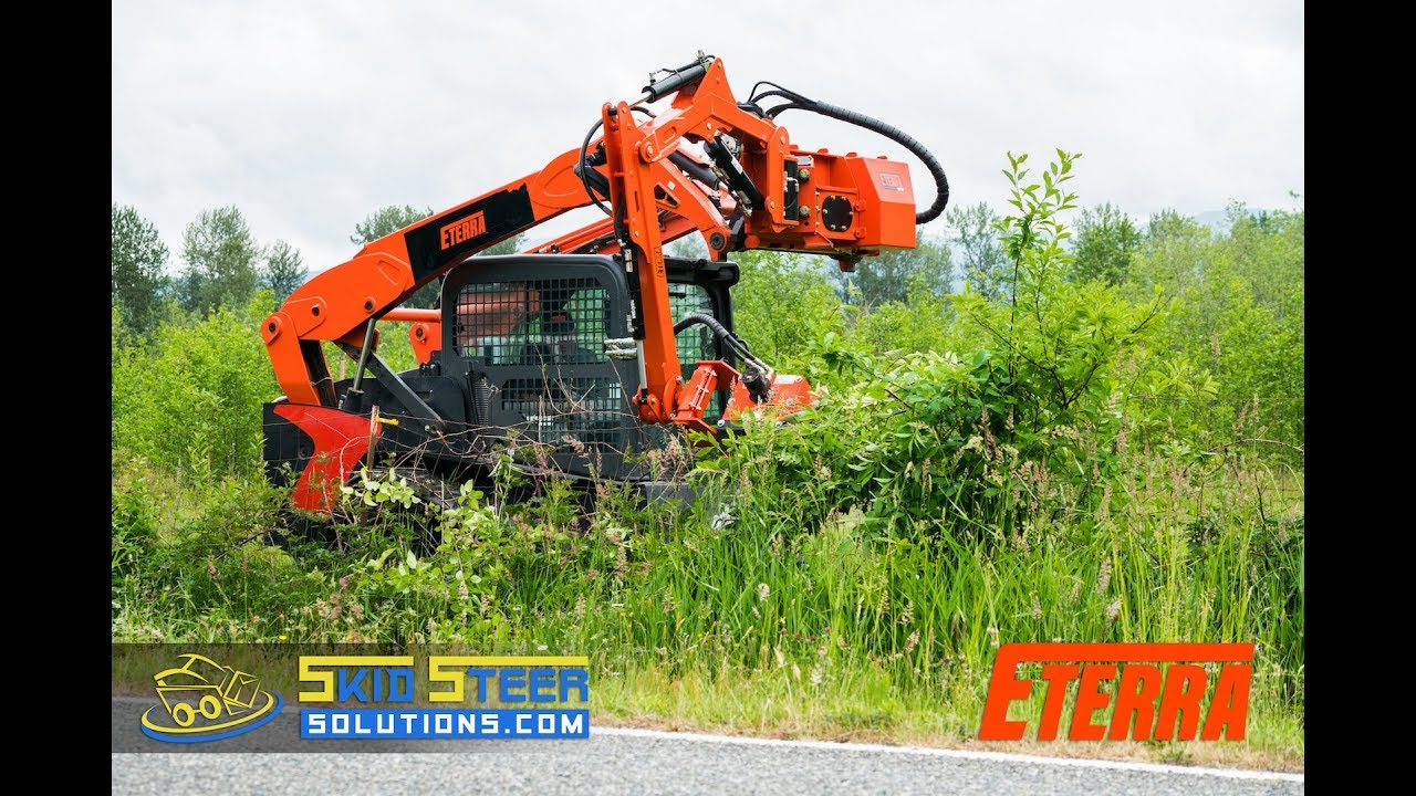 hight resolution of your first time using the eterra raptor boom mower attachment skid steer solutions