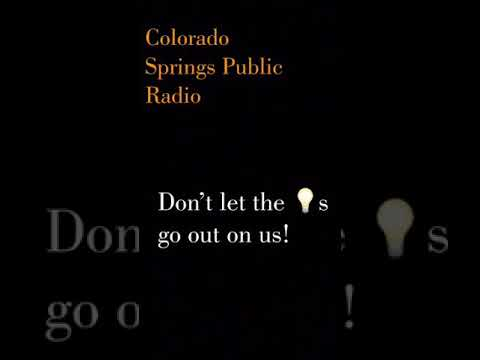 Colorado Springs Public Radio Wednesday April 2018 Broadcast