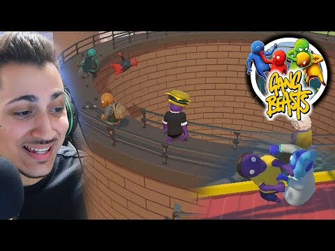 GANG BEASTS FUNNY MOMENTS (New Update)