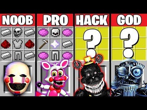 Minecraft Battle: FNAF 4 CRAFTING CHALLENGE ~ NOOB vs PRO vs HACKER vs GOD – Evolution Animation