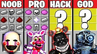 Minecraft Battle: FNAF 4 CRAFTING CHALLENGE ~ NOOB vs PRO vs HACKER vs GOD – Evolution Animation