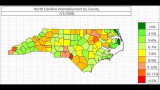 North Carolina Unemployment By County October 2013