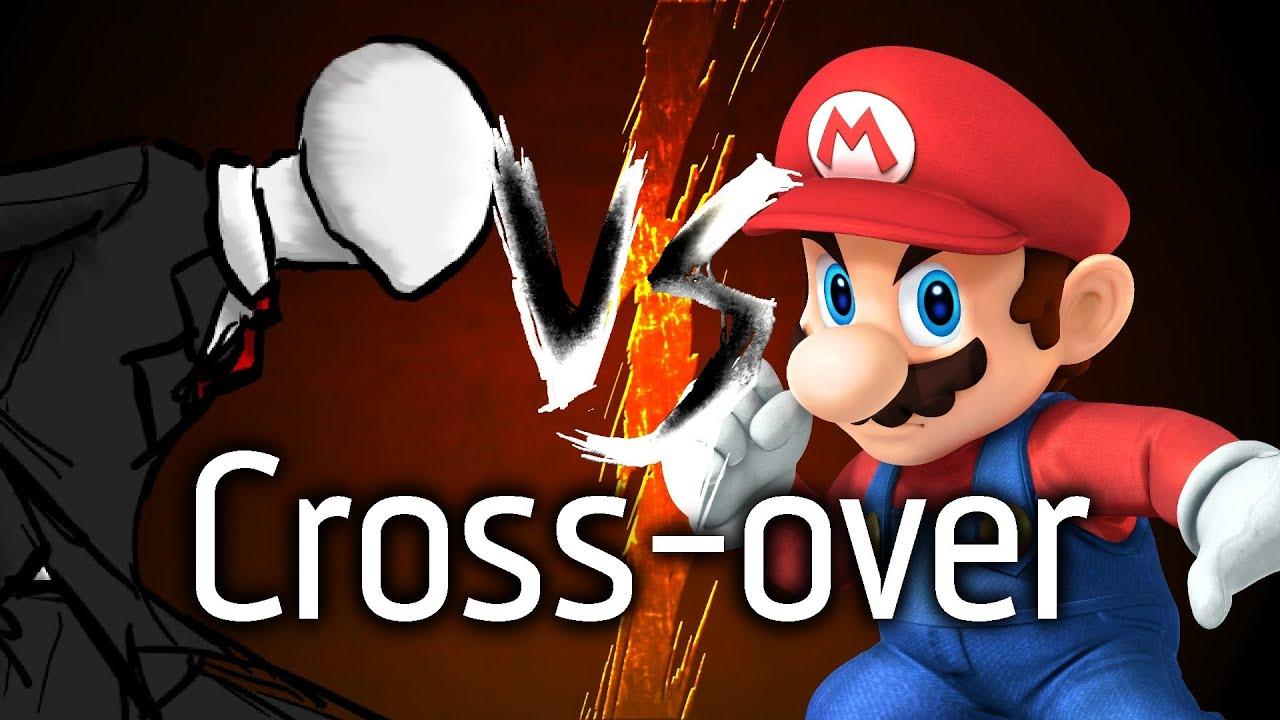 Cross Over Mario Vs Slenderman Dessin Youtube