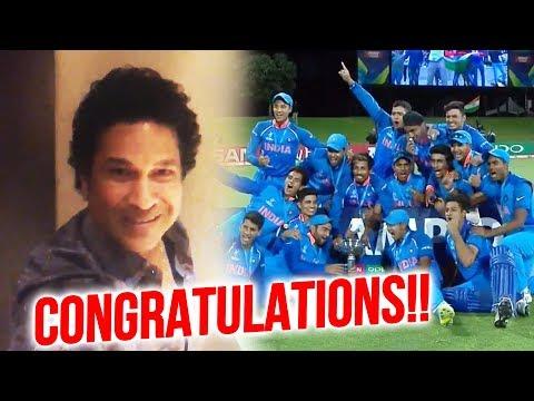 India WINS ICC U-19 World Cup 2018 | Sachin Tendulkar CONGRATULATES