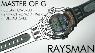 The first Tough Solar G-Shock watch | Casio DW-9300J Master of G Raysman watch review thumbnail