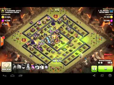 Clash Of Clans - MAX 7 GOLEM Lv5 Attack 3star TH10