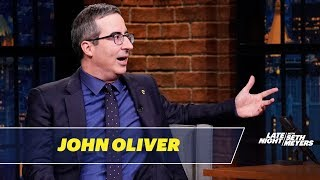 John Oliver Hugged J.K. Rowling on His First Day in the US