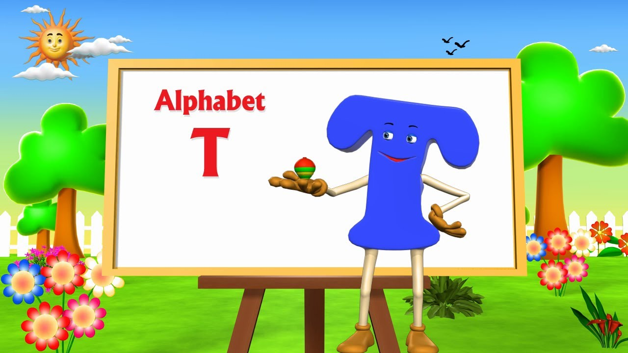letter t song letter t song 3d animation learning alphabet abc 735