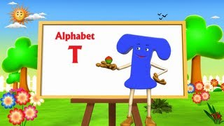 Letter T Song - 3D Animation Learning English Alphabet ABC Songs For children thumbnail