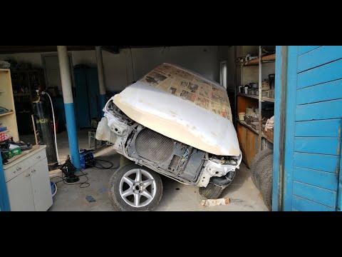 №5 Peugeot 406 Варим пороги, шпаклюем готовим под покраску.